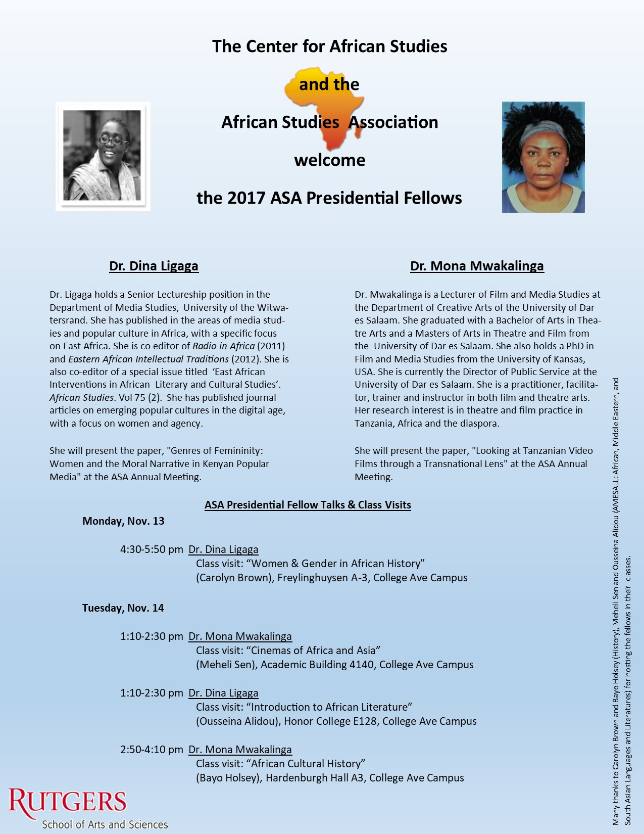 2017 ASA Presidential Fellows