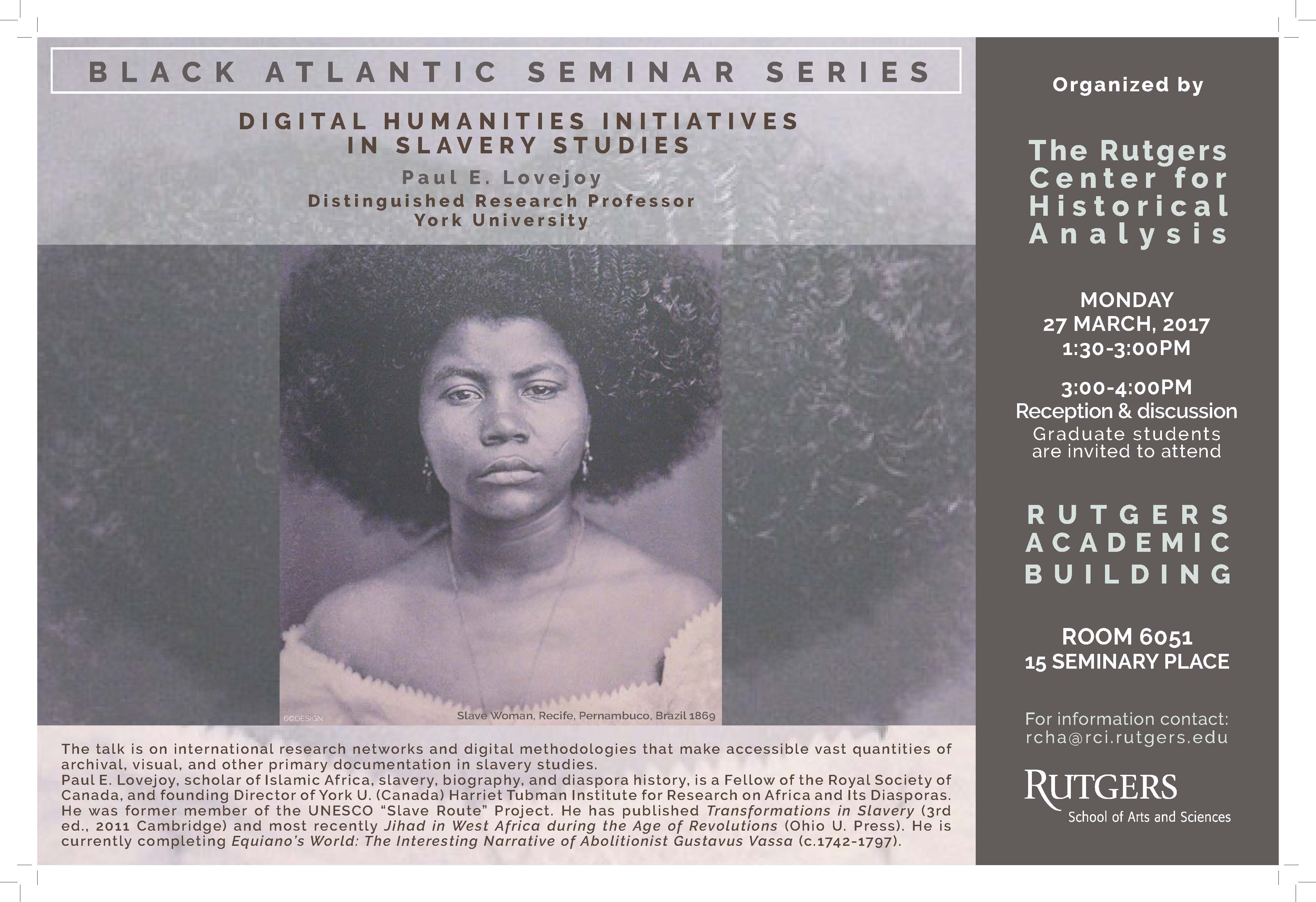 Digital Humanities Initiatives in Slavery Studies